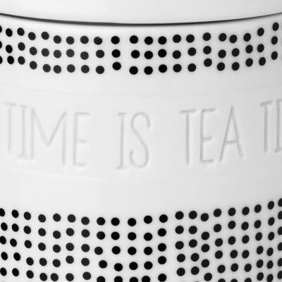 """Thee voorraadpot """"Anytime is teatime"""""""