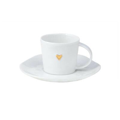 Espressotas met gouden hart
