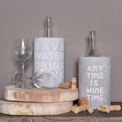 """Wijnkoeler """"Drink wine save water"""""""