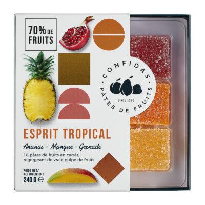 Confidas pâtes de fruits Esprit tropical