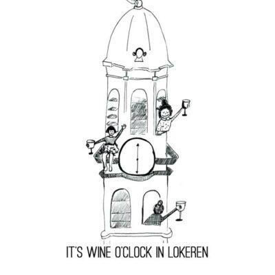Wenskaart Jean wine o clock